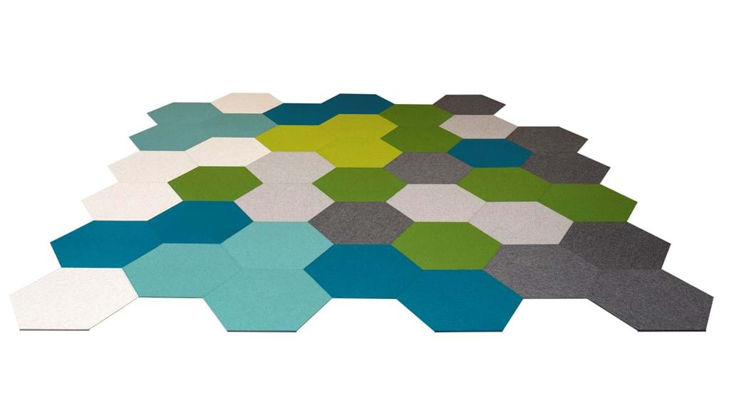 design Hexagon filttæppe